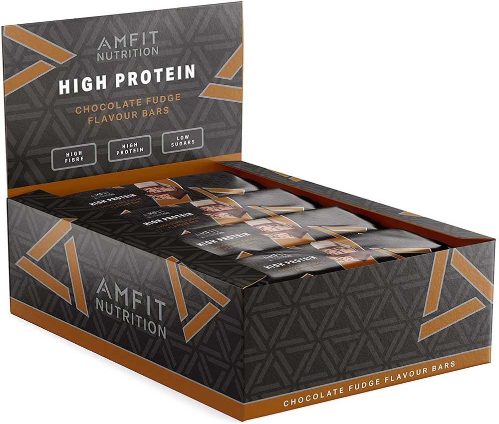 Barras de proteína AmFit Nutrition
