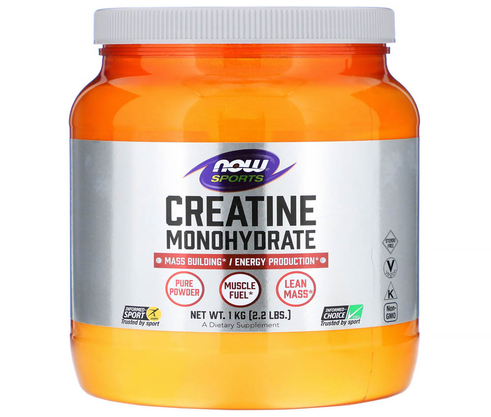 Creatina monohidrato Now Sports micronizada