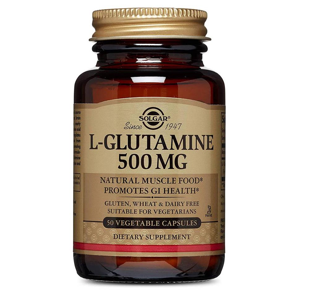Glutamina Solgar en cápsulas